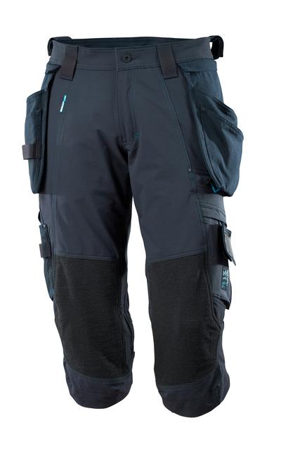 MASCOT® ADVANCED - Schwarzblau - Dreiviertel-Hose mit Dyneema® Knietaschen und abnehmbaren Hängetaschen, Vier-Wege-Stretchstoff, geringes Gewicht