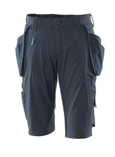 MASCOT® ADVANCED - Schwarzblau - Shorts mit abnehmbaren CORDURA® Hängetaschen, Vier-Wege-Stretchstoff, geringes Gewicht