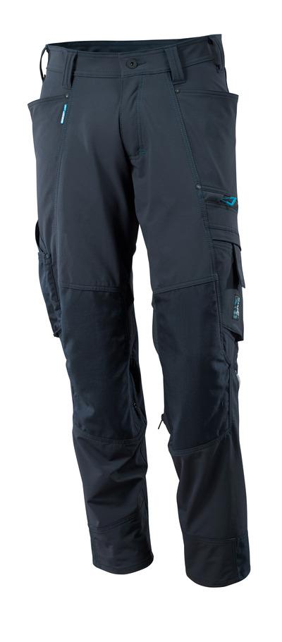 MASCOT® ADVANCED - Schwarzblau - Hose mit CORDURA® Knietaschen, Vier-Wege-Stretchstoff, geringes Gewicht
