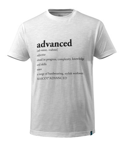 MASCOT® ADVANCED - Weiß - T-Shirt mit ADVANCED-Text, moderne Passform