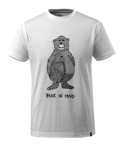 MASCOT® ADVANCED - Weiß* - T-shirt mit Bärenlogo BEAR IN MIND, moderne Passform
