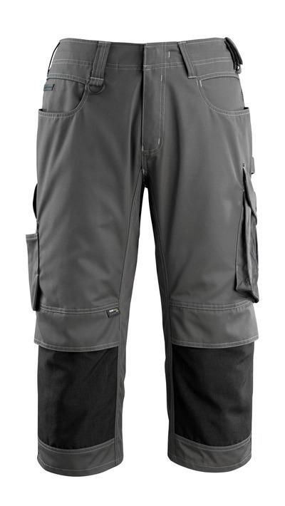 MASCOT® Altona - Dunkelanthrazit/Schwarz - Dreiviertel-Hose mit CORDURA® Knietaschen, geringes Gewicht