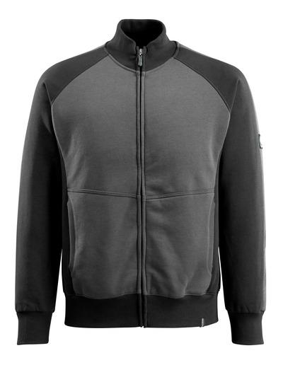 MASCOT® Amberg - Dunkelanthrazit/Schwarz - Sweatshirt mit Reißverschluss, moderne Passform