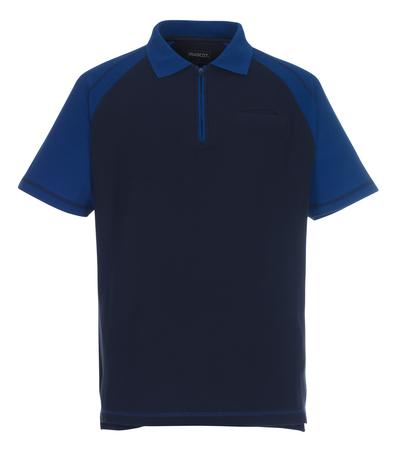 MASCOT® Bianco - Marine/Kornblau - Polo-Shirt mit Brusttasche und Reißverschluss, großzügige Passform
