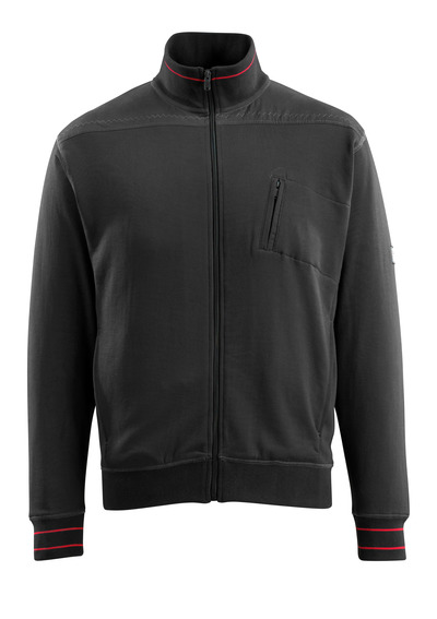 MASCOT® Chania - Schwarz - Sweatshirt mit Reißverschluss, moderne Passform