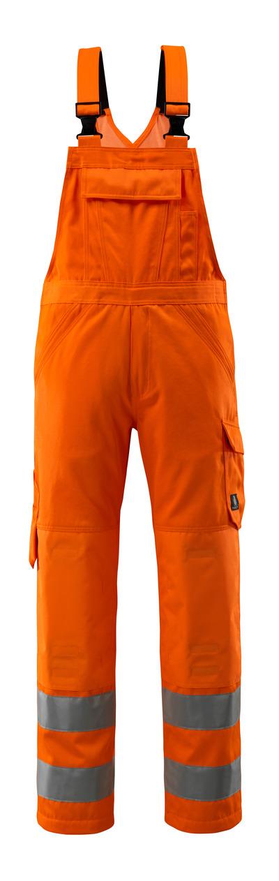 MASCOT® Devonport - hi-vis Orange - Latzhose mit Knietaschen, einfarbig, Klasse 2