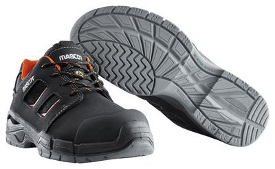 MASCOT® Diran - Schwarz/Dunkelorange - Sicherheitshalbschuh S3 mit Schnürsenkeln