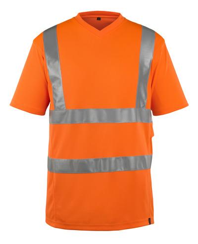 MASCOT® Espinosa - hi-vis Orange - T-Shirt, V-Ausschnitt, moderne Passform, Klasse 2