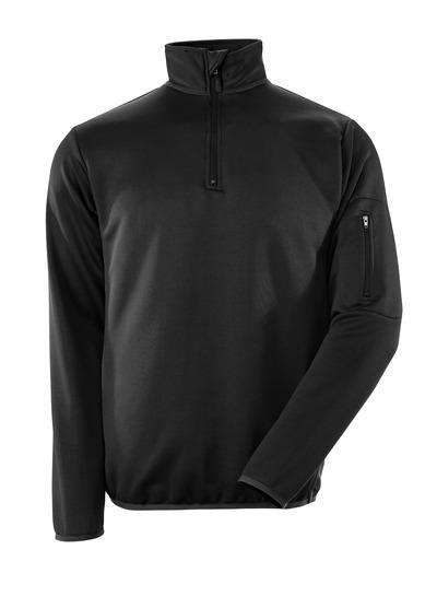 MASCOT® Estela - Schwarz/Dunkelanthrazit - Polo-Sweatshirt mit Reißverschluss, moderne Passform, feuchtigkeitstransportierend