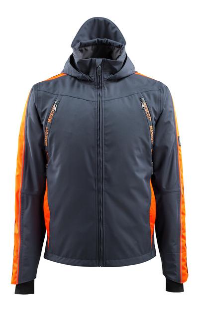 MASCOT® Gandia - Schwarzblau/hi-vis Orange - Hard Shell Jacke mit Hi-Vis Kontrast, wasserdicht
