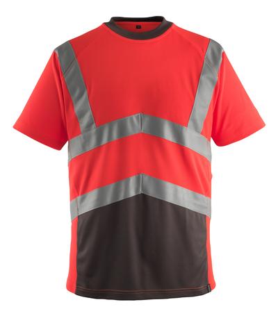 MASCOT® Gandra - hi-vis Rot/Dunkelanthrazit* - T-Shirt, moderne Passform, Klasse 2
