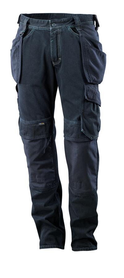 MASCOT® HARDWEAR - Dunkelblauer Denim - Jeans mit Knie- und Hängetaschen, extra strapazierfähig