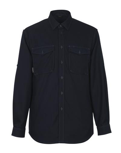 MASCOT® Hampton - Schwarzblau - Hemd