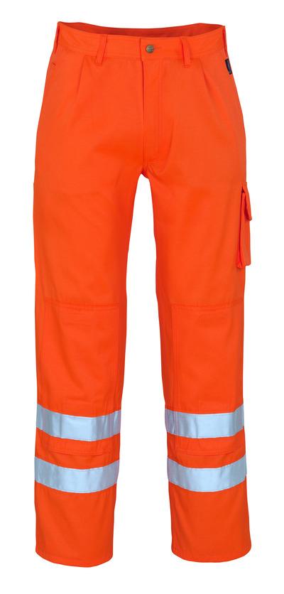 MASCOT® Iowa - hi-vis Orange* - Hose mit Knietaschen, Klasse 1/2