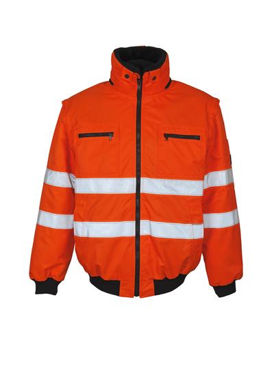 MASCOT® Kaprun - hi-vis Orange - Pilotjacke mit herausnehmbarem Kunstpelzfutter, wasserabweisend, Klasse 3