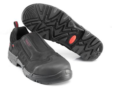 MASCOT® Katesh - Schwarz/Rot* - Sicherheitshalbschuh S1P mit Gummizug Verschluss