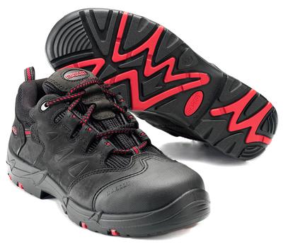 MASCOT® Kilimanjaro - Schwarz/Rot - Sicherheitshalbschuh S3 mit Schnürsenkeln