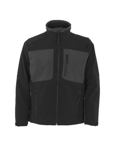 MASCOT® Lagos - Schwarz/Dunkelanthrazit - Soft Shell Jacke mit Fleece innen, wasserabweisend