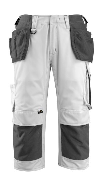 MASCOT® Lindau - Weiß/Dunkelanthrazit - Handwerker-Dreiviertel-Hose