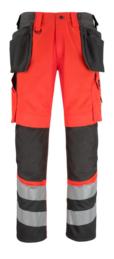 MASCOT® Lixa - hi-vis Rot/Dunkelanthrazit* - Hose mit Knie- und Hängetaschen