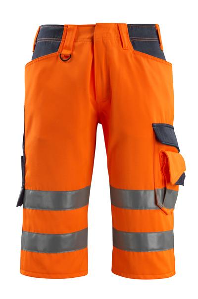 MASCOT® Luton - hi-vis Orange/Schwarzblau - Dreiviertel-Hose, Klasse 1