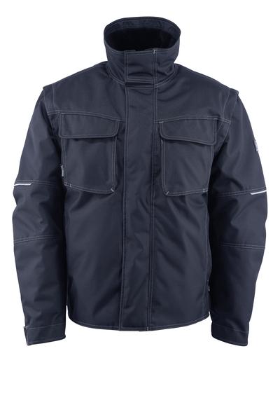 MASCOT® Macon - Schwarzblau - Winterjacke mit herausnehmbarem Kunstpelzfutter, wasserabweisend