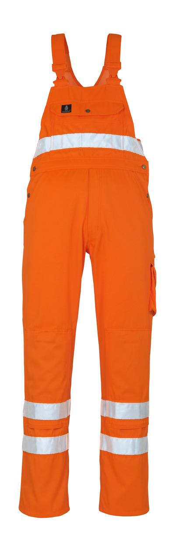 MASCOT® Maine - hi-vis Orange* - Latzhose mit Knietaschen, Klasse 2/2