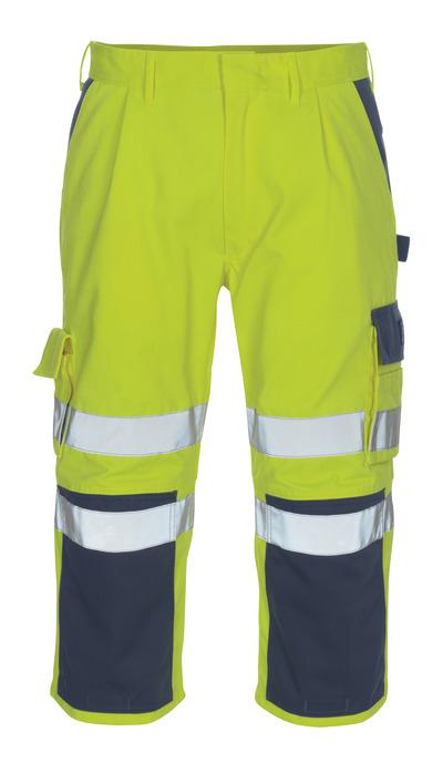 MASCOT® Natal - hi-vis Gelb/Marine* - Dreiviertel-Hose mit Knietaschen