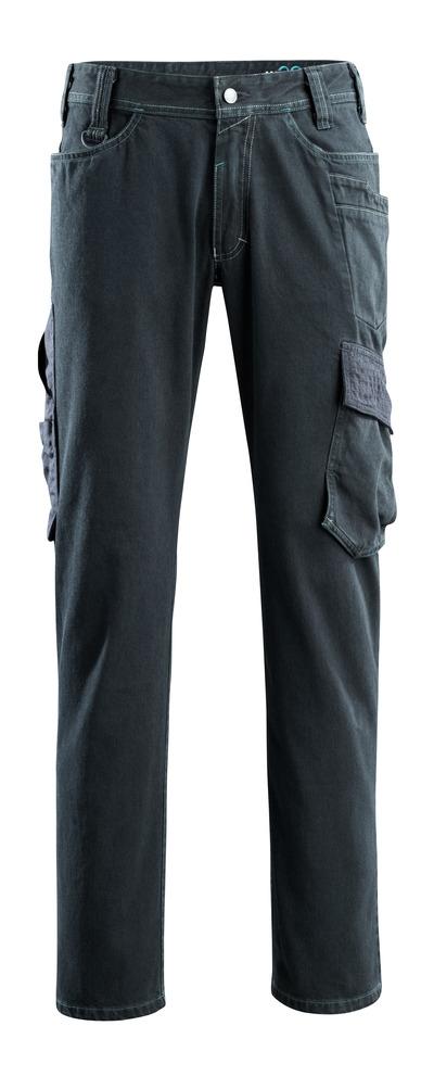 MASCOT® Navia - Dunkelblauer Denim - Jeans mit Schenkeltaschen, ekstra strapazierfähig