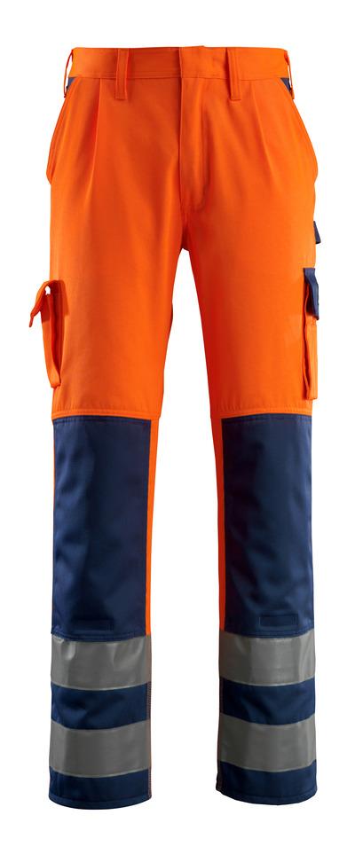 MASCOT® Olinda - hi-vis Orange/Marine - Hose mit Knietaschen, Klasse 2