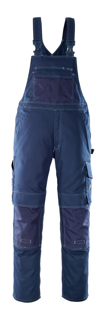 MASCOT® Orense - Marine - Latzhose mit Knietaschen, hohe Strapazierfähigkeit