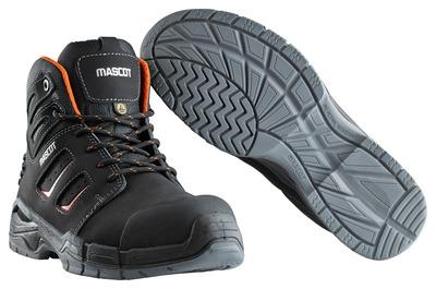 MASCOT® Rimo - Schwarz/Dunkelorange - Sicherheitsstiefel S3 mit Schnürsenkeln