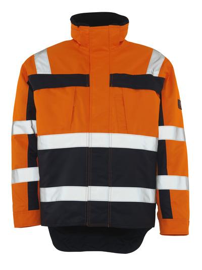 MASCOT® Teresina - hi-vis Orange/Marine - Winterjacke mit Kunstpelzfutter, wasserdicht, Klasse 3