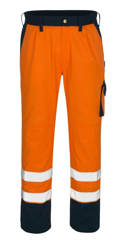 MASCOT® Torino - hi-vis Orange/Marine* - Hose mit Knietaschen, Klasse 1/2