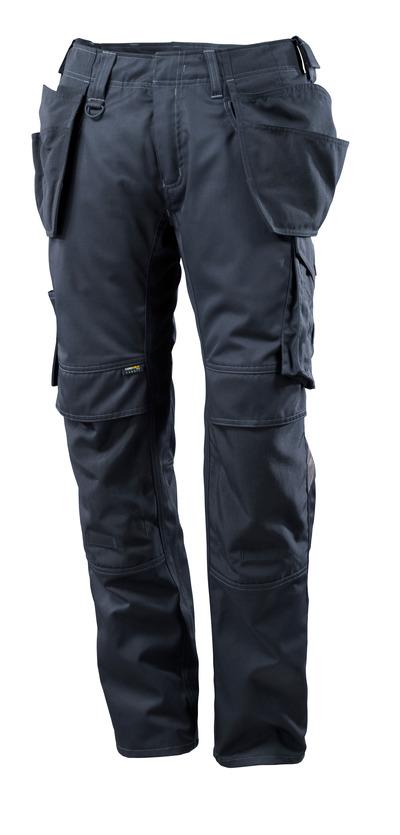 MASCOT® UNIQUE - Schwarzblau - Hose mit CORDURA® Knie- und Hängetaschen, geringes Gewicht