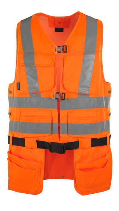 MASCOT® Yorkton - hi-vis Orange - Werkzeugweste mit vier Hängetaschen, Klasse 2/2